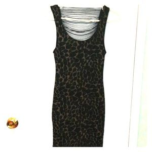 Animal Printed Body Con Dress